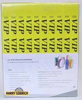 Tystar Eintrittsbänder 25cm VIP 100 St.