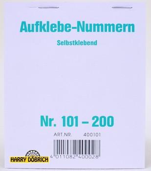 Nummernaufkleber 101-200 Block