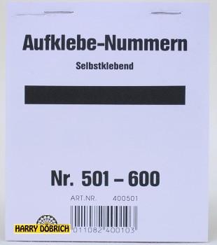 Nummernaufkleber 501-600 Block