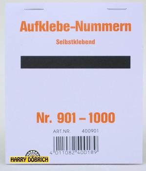 Nummernaufkleber 901-1000 Block