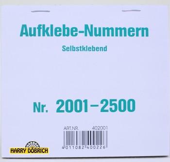 Nummernaufkleber 2001-2500 500er Block