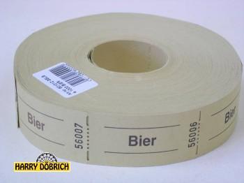 Rollen-Gutscheine Bier gelb 1000er Rolle