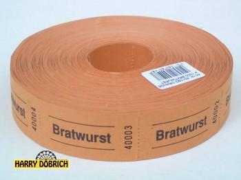 Rollen-Gutscheine Bratwurst 1000er Rolle