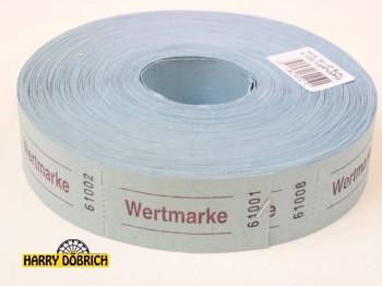 Rollen-Gutscheine Wertmarke 1000er Rolle blau