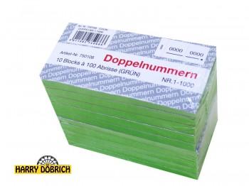 Block Doppelnummern 1-1000 grün