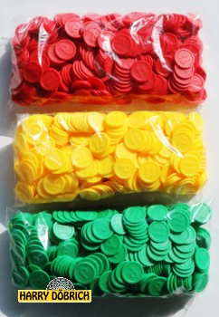 Wertmarken Chips grün Essen 500er Pack