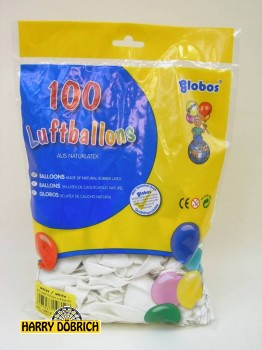 Luftballon 95/105 weiß 100 Stück