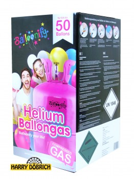 Helium Ballongas 50 Einweg Behälter