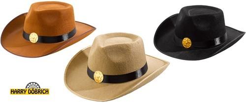 Cowboyhut 3 Farben sortiert