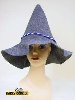 Seppelhut mit Kordel blau/weiss