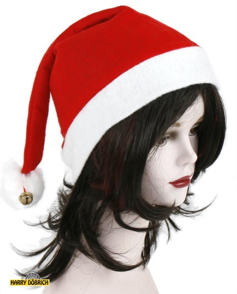 Weihnachtsmütze Filz mit  Bommel/Glocke