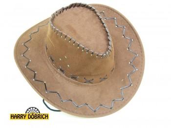 Cowboyhut 3 Farben sortiert Lederoptik