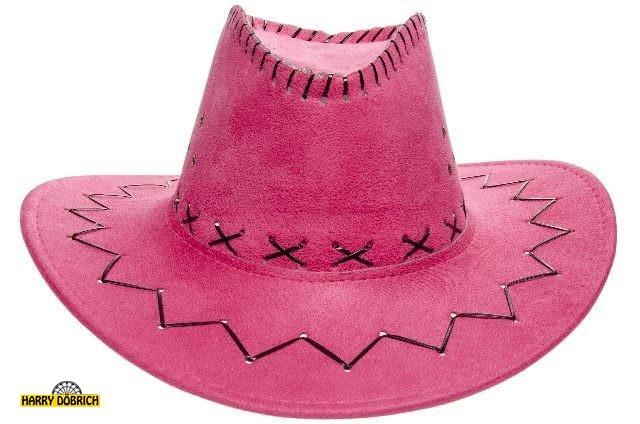 Cowboyhut pink Lederoptik