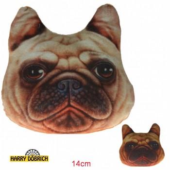Kissen Bulldogge 14cm sortiert