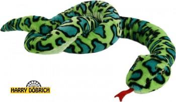 Schlange 254cm grün gemustert