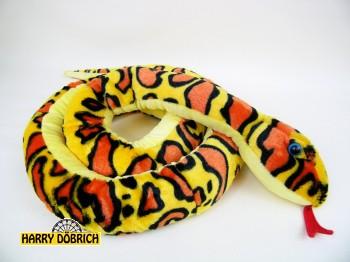 Schlange 254cm gelb/orange gemustert