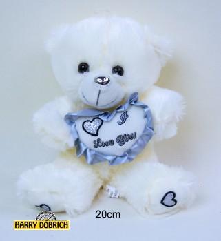 Bär mit Herz 20cm silber