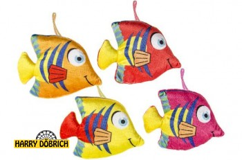 Fisch 18x13cm bunt 4 Farben sortiert
