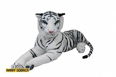 Tiger liegend 70cm weiss