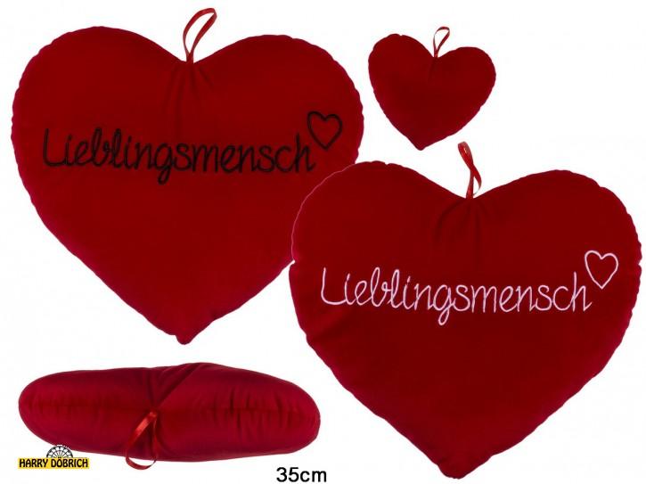 Herz rot 35cm Lieblingsmensch sortiert