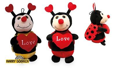 Biene/Marienkäfer rot mit Herz 30cm