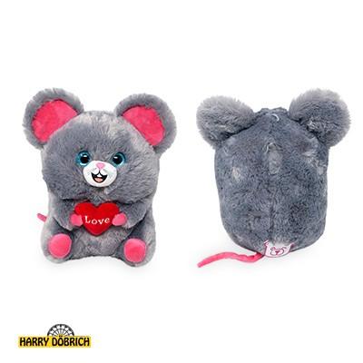 Dicke Maus mit Herz 18cm