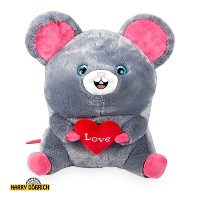 Dicke Maus mit Herz 38cm