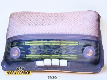 Kissen Retro Radio 25x35cm 2-fach sortiert