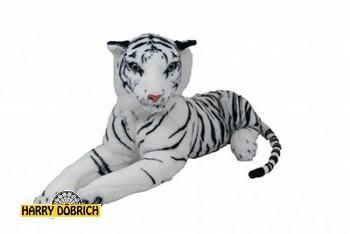 Tiger liegend 85cm weiss