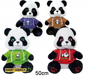 Panda mit Shirt 50cm sortiert