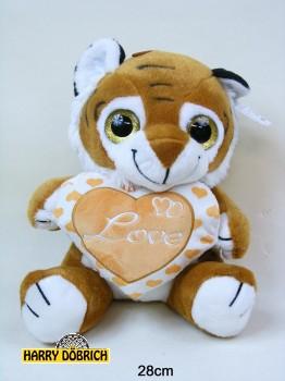 Tiger Baby mit Herz 28cm