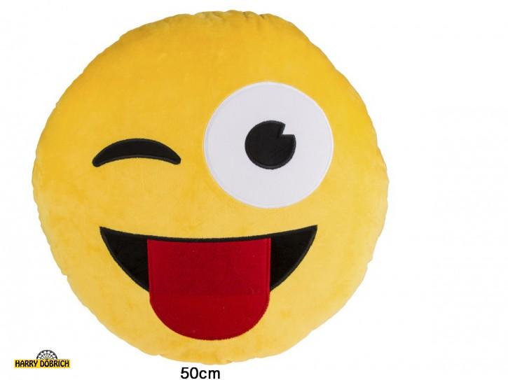 Kissen Lachgesicht Zunge 50cm
