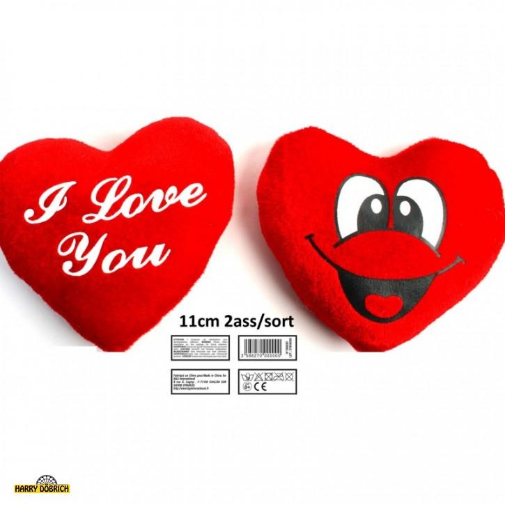 Herz rot 11cm beidseitig bedruckt