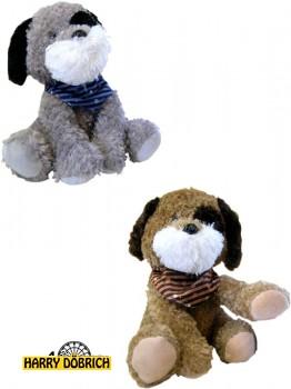 Terrier 45cm sitzend mit Tuch 2-fach sortiert