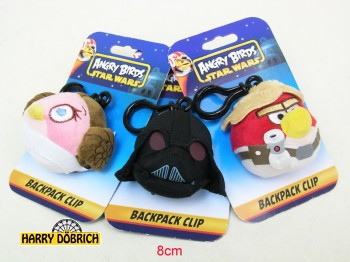 Angry Birds Star Wars Bag Clip 8cm sort. 8 fach