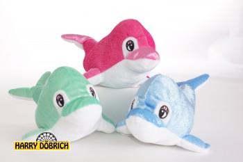 Delfin 15cm glitzer 3-fach sortiert