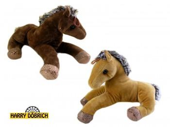 Pferd liegend 27cm braun/beige sortiert