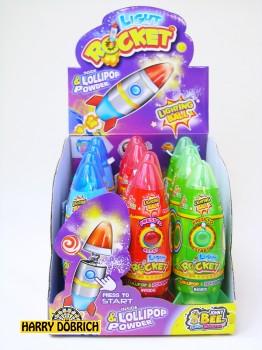 Candy Rocket mit Licht 12 Stück sortiert