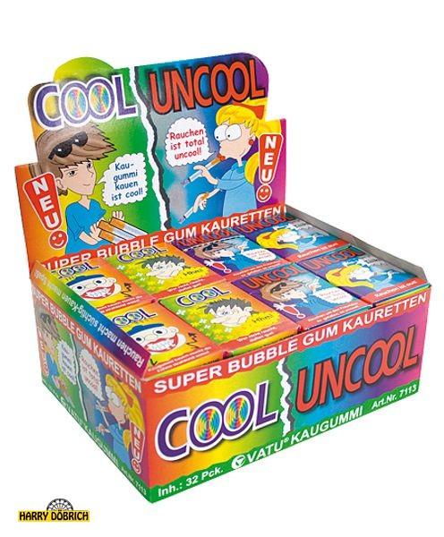 Kaugummizigaretten Cool/Uncool 32x25g