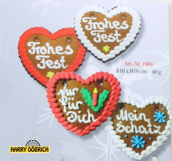 Herz Weihnachten  40gr 1009 sortiert
