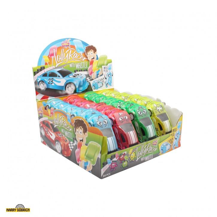 Lolly Racer mit Pfeife 24 Stück