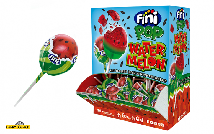 Lolly Water Melon Pop Fini 100 Stück