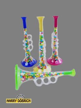 Trompete 23cm mit Liebesperlen sortiert