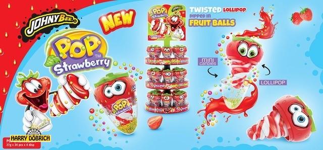 Strawberry Pop Johny Bee 24x27gr