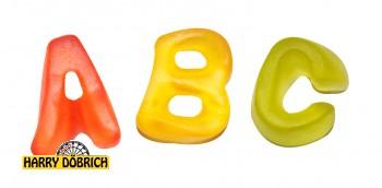 Fruchtgummi Buchstaben 3kg bunt sortiert