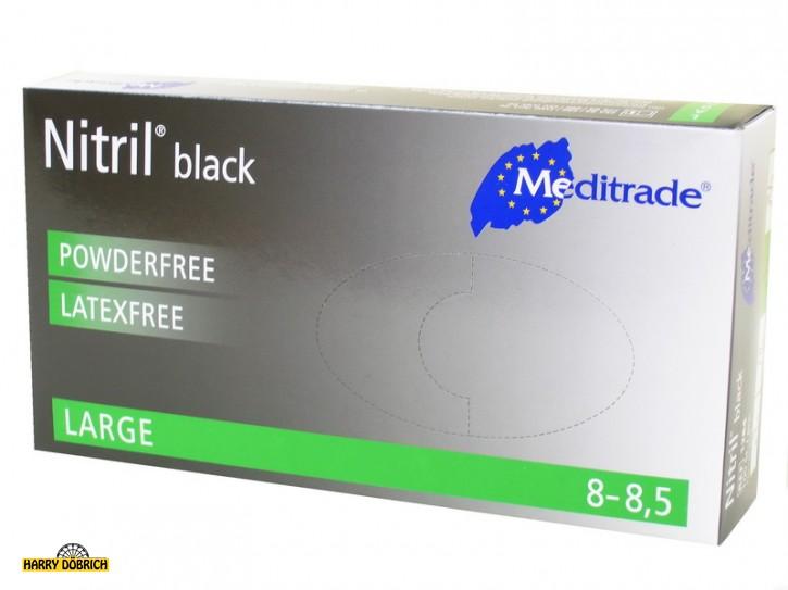 Nitril Handschuhe schwarz Gr. XL 100 Stück