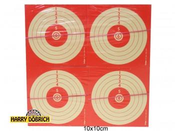 Schießscheiben Kirmes rot 10x10cm 1000 Stück