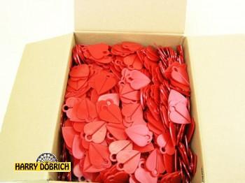 Abschieß-Herzen rot Karton ca. 1000 St
