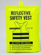 Sicherheitsweste gelb im Beutel