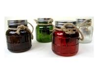 Deko-Glas mit LED 4 Farben